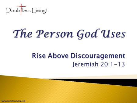 the seeds of discouragement
