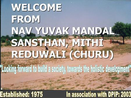 WELCOME FROM NAV YUVAK MANDAL SANSTHAN, MITHI REDUWALI (CHURU)