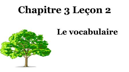Chapitre 3 Leçon 2 Le vocabulaire. Le beau-père Noun: Person, Place, Thing, or Idea.