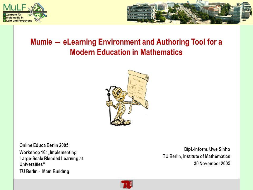 Uwe Sinha MUMIE @ Online Educa Berlin 2005 30.