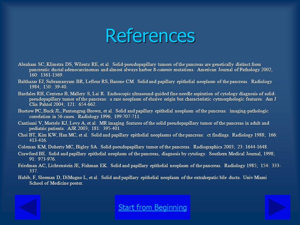 Start from BeginningReferences Hurley ME, Corbally M, McDermott M.