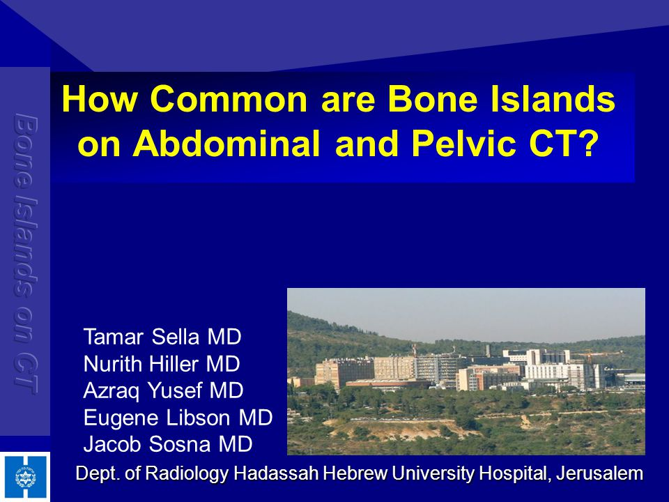 Bone Islands - Background focus of compact bone located in cancellous bone also known as an enostosis, endosteoma, calcified medullary defect a benign entity that is usually found incidentally on imaging studies bone islands may mimic a more agressive process, such as an osteoblastic metastasis