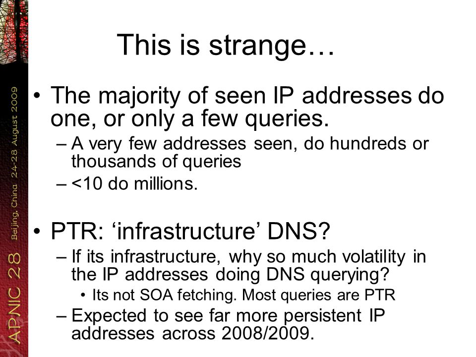 This is strange… End-user boxes doing reverse-DNS.