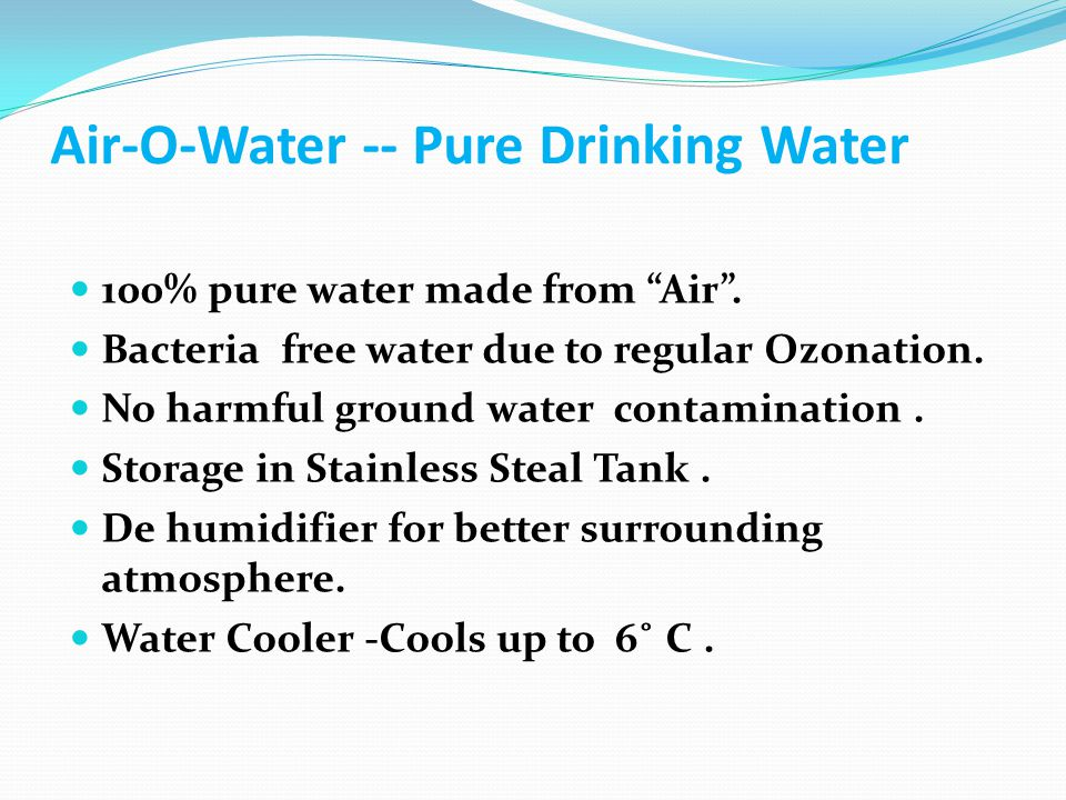 Features of Air-O-Water Product 5.1 inch display with thermal & RH % indicators.