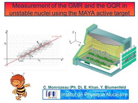 Measurement of the GMR and the GQR in unstable nuclei using the MAYA active target C. Monrozeau (Ph. D), E. Khan, Y. Blumenfeld.