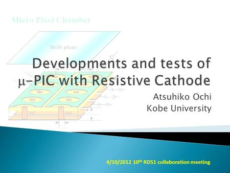 Atsuhiko Ochi Kobe University 4/10/2012 10 th RD51 collaboration meeting.