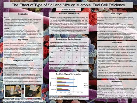 The Effect of Type of Soil and Size on Microbial Fuel Cell Efficiency Introduction Rationale The Earth is getting more polluted every day, and scientists.