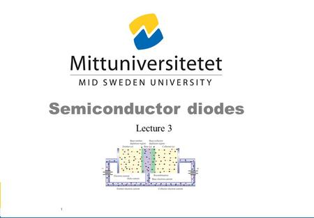 Semiconductor diodes Lecture 3.