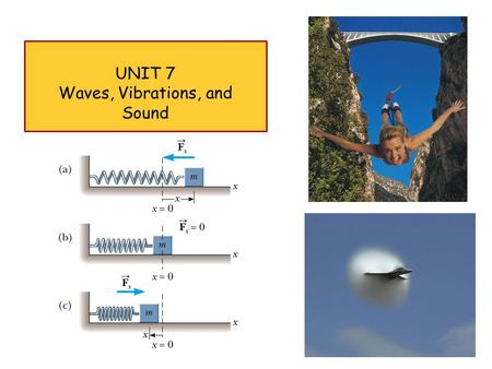 UNIT 7 Waves, Vibrations, and Sound 1. Tuesday January 31 th 2 WAVES, VIBRATIONS, AND SOUND.