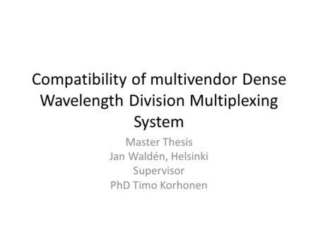 Master thesis helsinki map