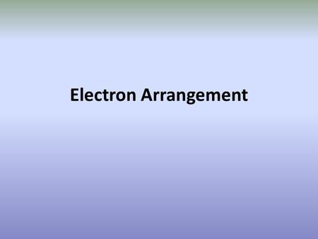 Electron Arrangement. Assessment statementTeacher's notes 2.3.1Describe the electromagnetic spectrum.Students should be able to identify the ultraviolet,