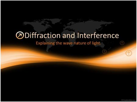 Diffraction and Interference Explaining the wave nature of light.