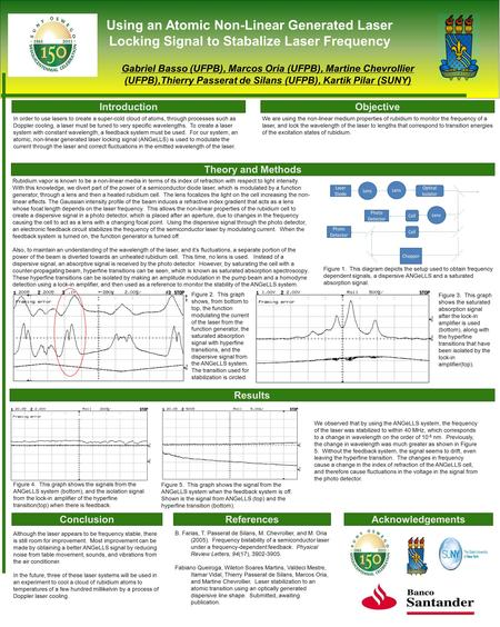 Using an Atomic Non-Linear Generated Laser Locking Signal to Stabalize Laser Frequency Gabriel Basso (UFPB), Marcos Oria (UFPB), Martine Chevrollier (UFPB),Thierry.