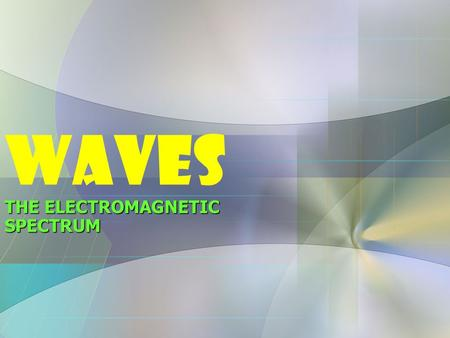 WAVES THE ELECTROMAGNETIC SPECTRUM. Waves are a method that enrgy uses to travel from one location to another Waves are the result of a vibration traveling.