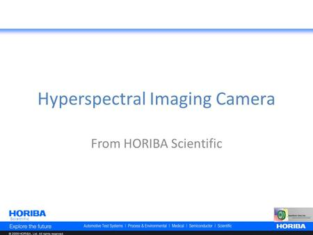 Hyperspectral Imaging Camera From HORIBA Scientific.