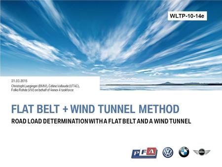 flat belt + wind tunnel method