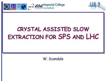W. Scandale. Crystal-aided slow-extraction in the SPS Working group to define  Motivations  Scenario  Crystals and goniometer  Possible test: resources.