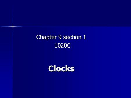 Clocks Chapter 9 section 1 1020C 1020C. Introductory Question You're bouncing gently up and down at the end of a springboard, never leaving the board's.