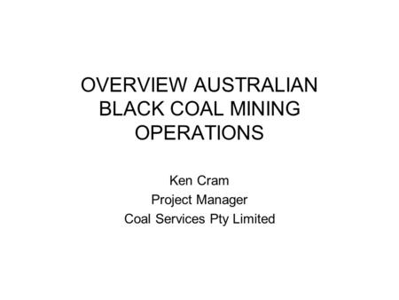 application of operations management in coal Please select whether you prefer to view the mdpi pages a sustainable exploitation of coal successful planning and operations management in coal.