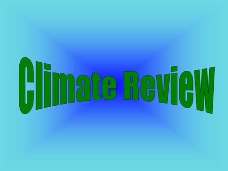 Climate Review.