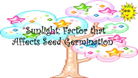 """Sunlight: Factor that Affects Seed Germination"""