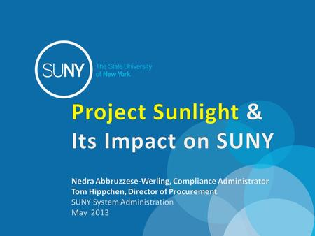 What is Project Sunlight What does Project Sunlight COVER.