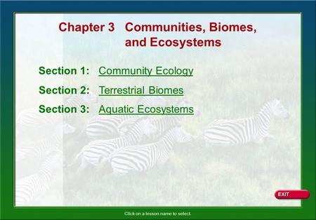 Chapter 3 Communities, Biomes,