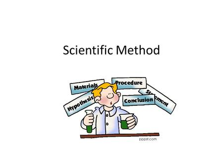 Scientific Method. What is the scientific method? It is a way in which scientists answer and solve problems The steps to solve a problem or question.