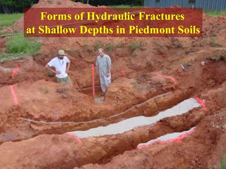 Forms of Hydraulic Fractures at Shallow Depths in Piedmont Soils.