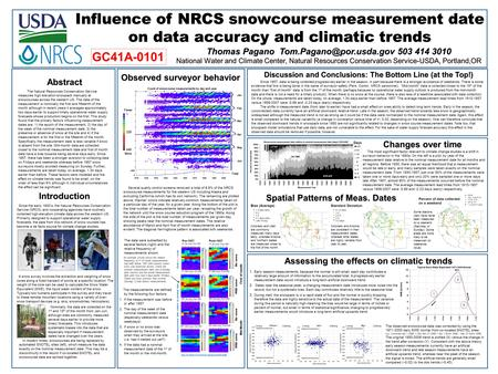 Abstract Influence of NRCS snowcourse measurement date on data accuracy and climatic trends Thomas Pagano 503 414 3010 National.