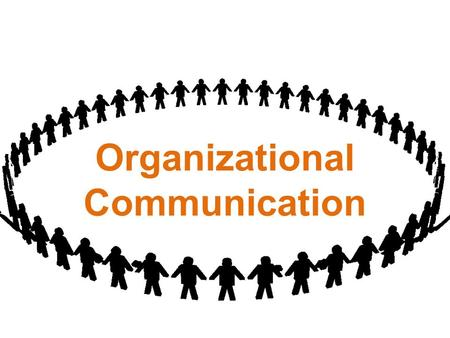 Organizational Communication. Types : Formal and Informal.