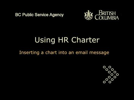 Using HR Charter Inserting a chart into an email message.