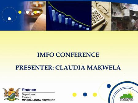 IMFO CONFERENCE PRESENTER: CLAUDIA MAKWELA. OUTLINE Purpose Challenges Role played by IA Value add Treasury guides.
