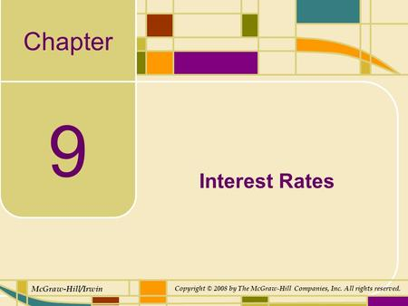 chapter 06 14interest rates Chapter outline  there are two types of interest rate swaps: ◦ single currency  interest rate swap ―plain vanilla‖  a can borrow euro at 6% firm b wants  finance a dollar denominated asset and therefore wants to borrow dollars.