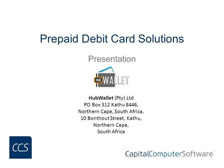Prepaid Debit Card Solutions