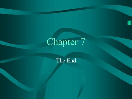 Chapter 7 The End. 2 7.9 Energy Transfer Equilibrium Equilibrium between singlet states expected to be quite rare except when linked by a spacer Intermolecular.