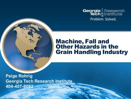 Paige Rohrig Georgia Tech Research Institute 404-407-8082.