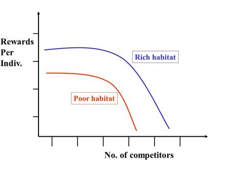 ________ | | | Rich habitat Poor habitat Rewards Per Indiv. No. of competitors.