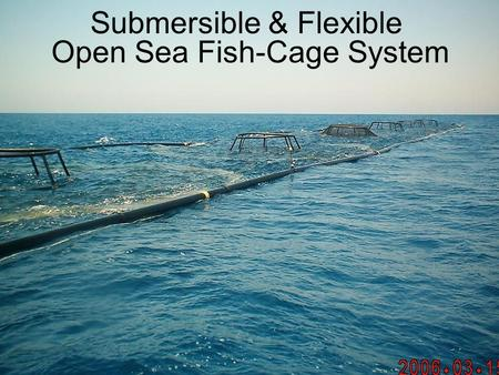 Submersible & Flexible Open Sea Fish-Cage System.