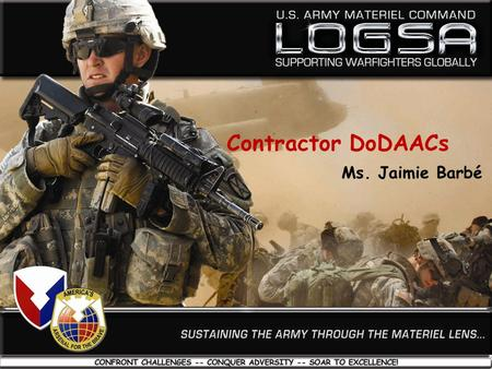Contractor DoDAACs Ms. Jaimie Barbé.