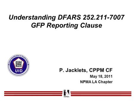 Understanding DFARS GFP Reporting Clause