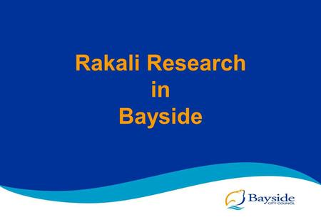 Rakali Research in Bayside. Bayside City Council Municipal Map.