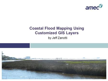 Coastal Flood Mapping Using Customized GIS Layers by Jeff Zanotti.