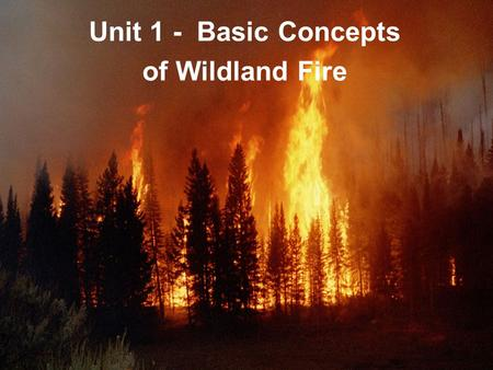 01-1-S190-EP Unit 1 - Basic Concepts of Wildland Fire.