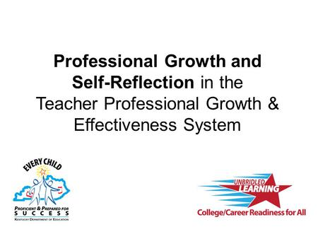 Professional Growth and Self-Reflection in the Teacher Professional Growth & Effectiveness System.