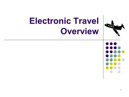 1 Electronic Travel Overview. 2 Welcome: Tonya Brown.