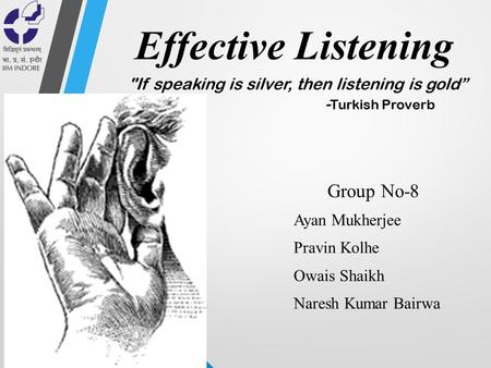 Effective Listening Group No-8