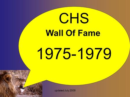 Updated July 2009 CHS Wall Of Fame 1975-1979. updated July 2009 Richard Barrios 1975 LA Tech Wide Receiver Louisville-KY Civil Engineer- - Structural.