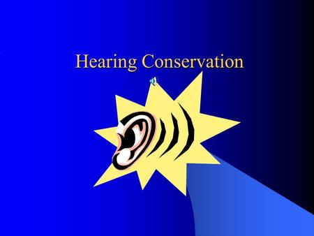 Hearing Conservation Agenda Objectives and Responsibilities The Effects of Noise Factors Affecting Hearing Loss Hearing Conservation Program Noise Hazard.