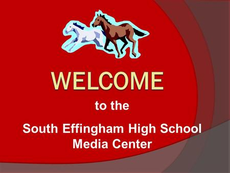 to the South Effingham High School Media Center The library has 2 Media Specialists: Mrs. Cath Olivier (Ms. Cath or Ms. Olivier) and Mrs. Becky Alford.